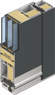 Insulated front door - door cross section
